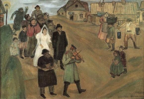 Марк Шагал :: Русская свадьба (1909 год)