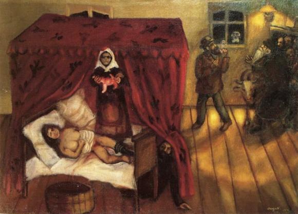 Марк Шагал :: Рождение (1910 год)