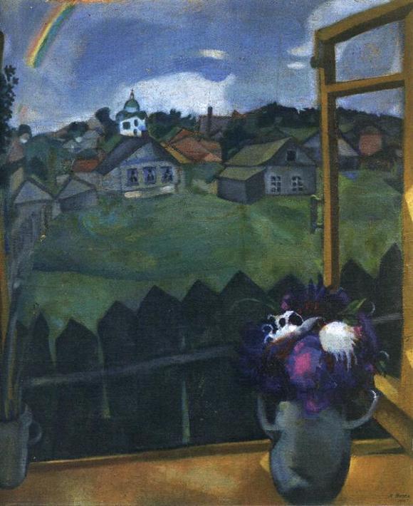 Марк Шагал :: Окно. Витебск (1908 год)